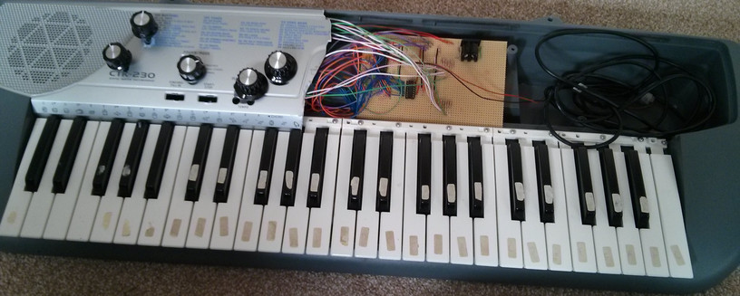 Converting a toy keyboard into a MIDI keyboard with an Arduino